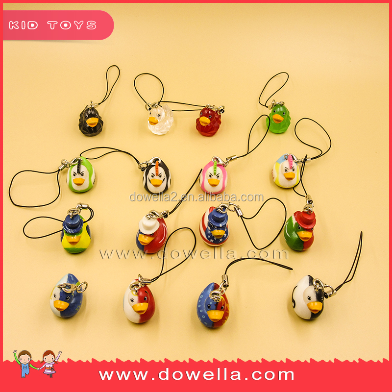New different 2D soft pvc keychain mini keychain mobile phone toys