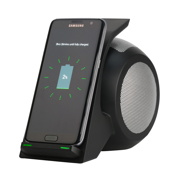 New design wireless charger new with bluetooth speakers