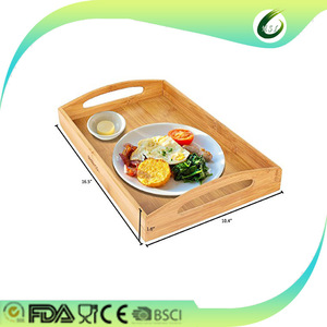 Unique design promotional bamboo wooden serving tray