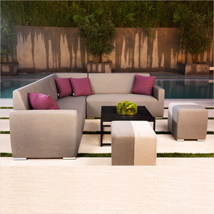 Design best price UV resistant hotel lounge/rattan water proof garden sofa set Outdoor Leisure patio corner Sofa