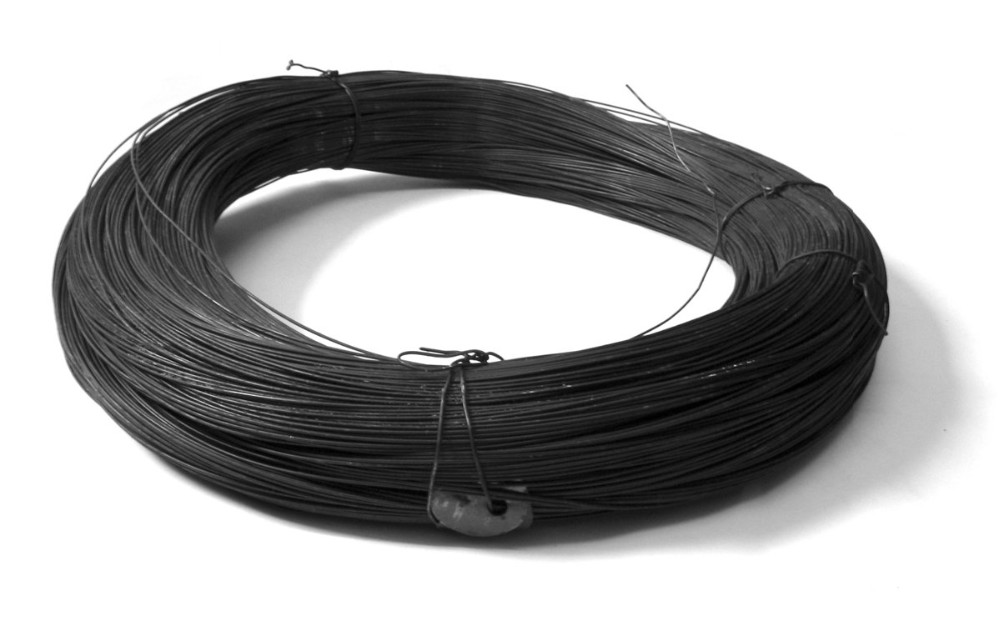 Black Annealed Wire : Mm black annealed with inside plastic film outside