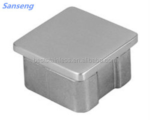 Tube metal stainless steel square end cap