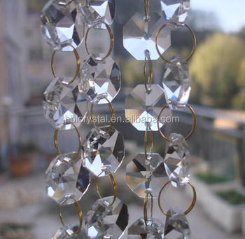 Mm Octagon Crystal Beads Machine Making Faceted Chandelier Crystal - Octagon chandelier crystals