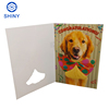 Shiny voice recordable Musical Merry Christmas Greeting Card With fiber optic LED Lights