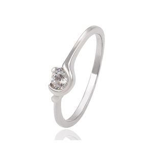 13812 Xuping vintage ring forged white gold color ring women