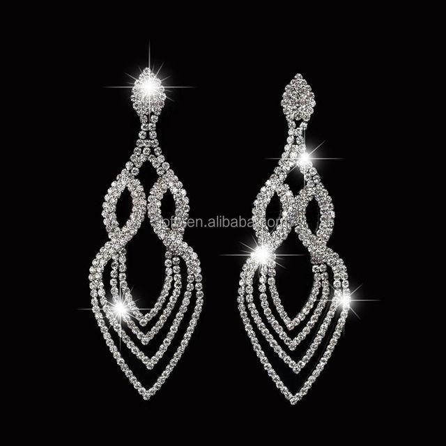 China small chandelier earrings wholesale alibaba silver color crystal wedding floral shape chandelier earrings women brides bridesmaid sexy hanging small diamond earrings aloadofball Gallery