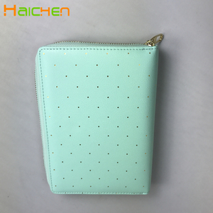 A6 A5 PU leather agenda organizer office lady business notebook