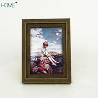 China manufacture, Square Wood Wall Deplay blue sixy photo/picture frame art and craft souvenir gift wood frame