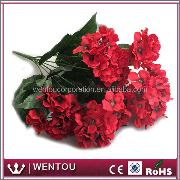 Wholesale Artificail Flower Silk Hydrangea