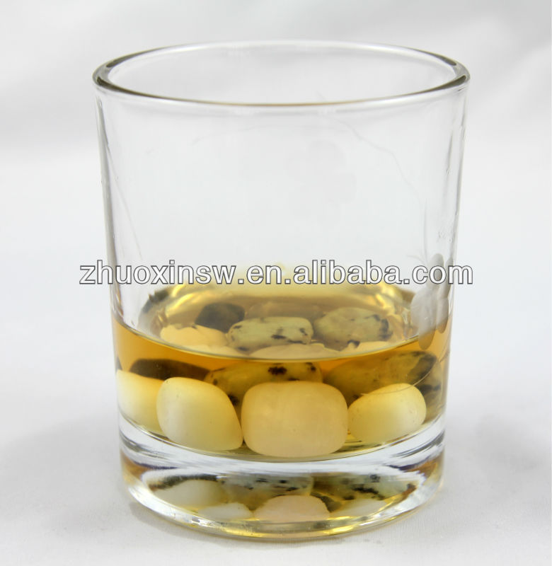 whisky stone in glass real soapstone
