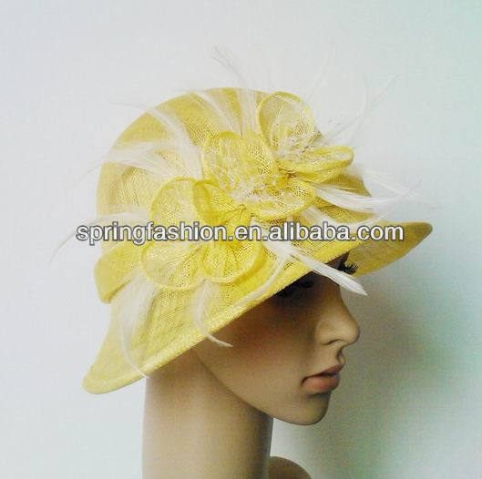 New small brim sinamay hat factory wholesale