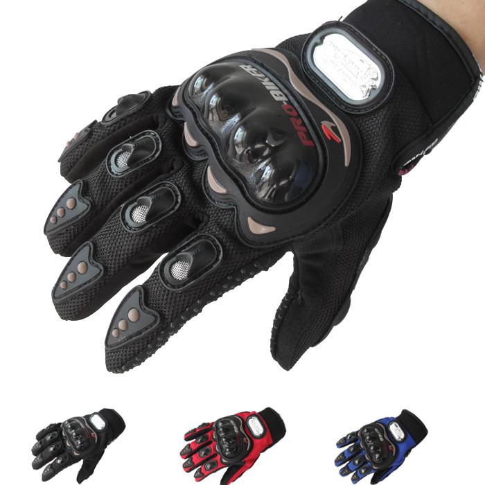 moto da cross motocross moto da corsa guanti full finger pro-biker black-xxl