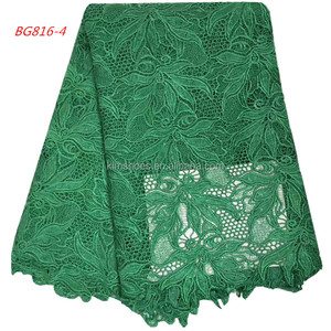 High Quality Fashion Cord Lace African Guipure water soluble Fabrics Embroidery 816