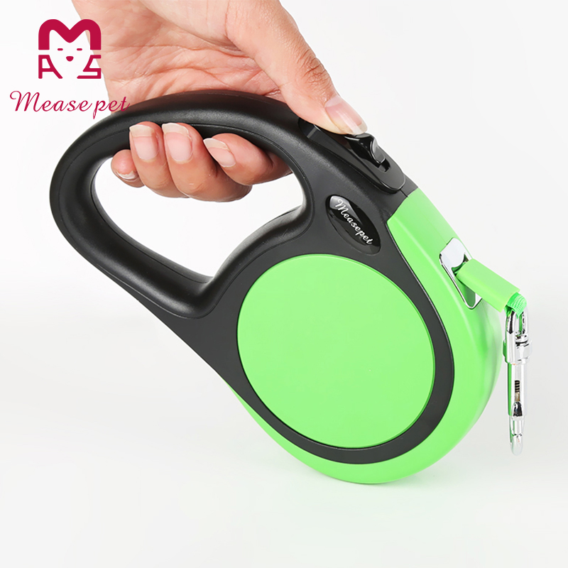 Durable ABS plastic casing with ergonomic grip and maximum freedom anti-slip handle lighted dog collar and leash