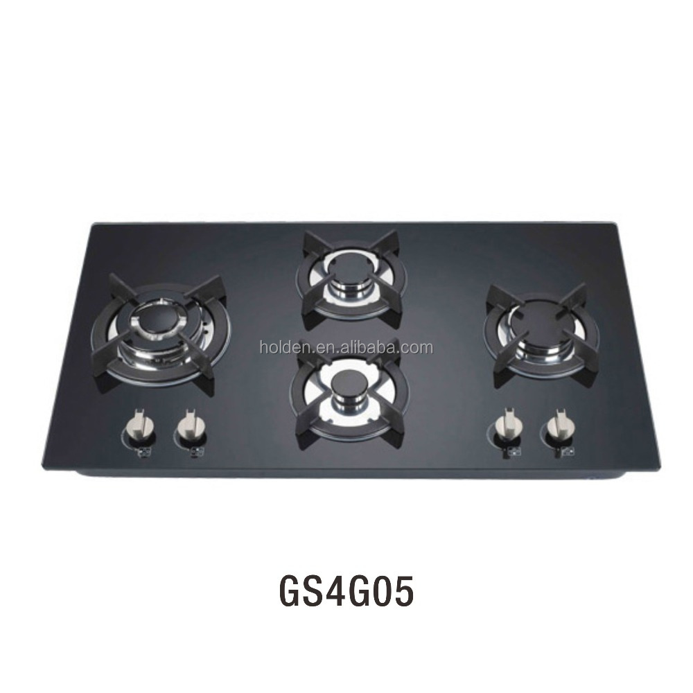 Built in cooktop in 4 burner SS panel