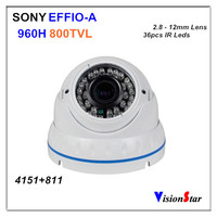 800TVL 960H Super HAD CCD With DSP OSD Menu Outdoor IR Vandalproof Dome Security CCTV Camera Vision Star
