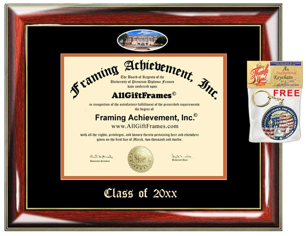 AllGiftFrames Custom Diploma Frame FAMU Embossed Best Florida A&M University Graduation Degree Frame Double Mat Campus Fisheye Picture Frame Cheap Degree Graduate Gift
