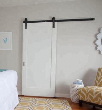 Custom made shaker style white barn door