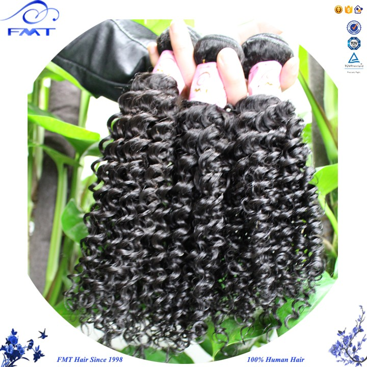 Full cuticle double weft Kinky Curly Hair Extension 100% Raw Human Remy unprocessed malaysian curly hair