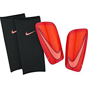Men's Nike Mercurial Lite Shin Guards (Hyper Orange/University Red/Bright Mango) X-Small
