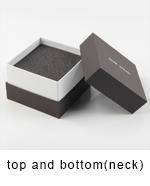 Novo logotipo de Seda dentro projetado caixa de armazenamento de gravata borboleta caixa de presente abotoadura