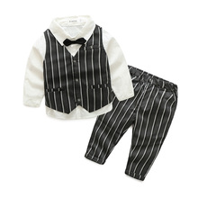 high quality hot sale 2017 formal handsome suits good material cheap baby boy clothes set