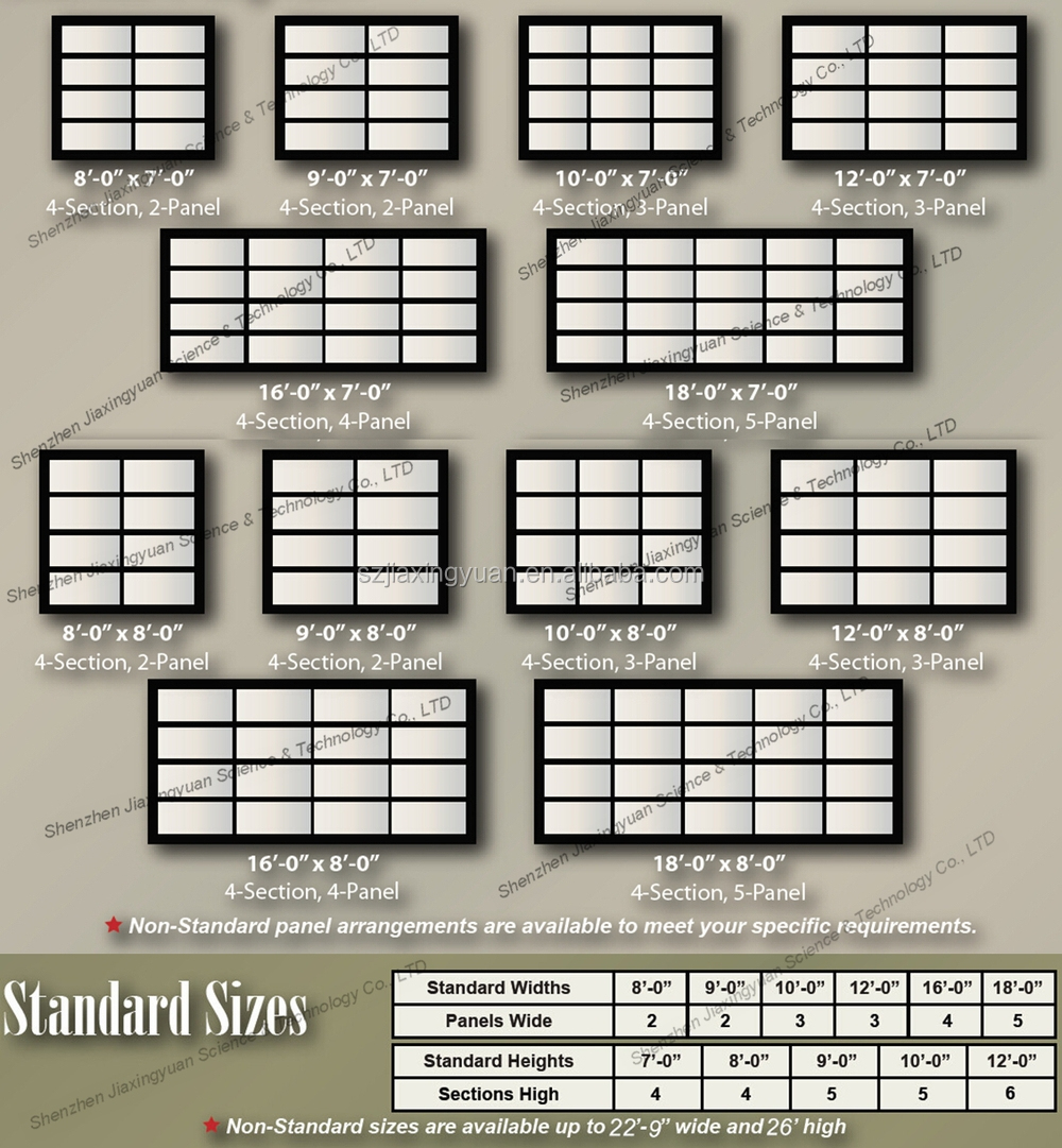 Sectional door sizes garage door wikipedia sectional Garage door sizing