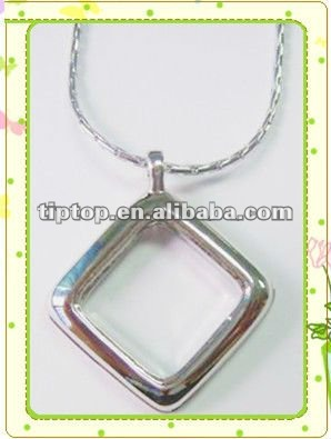 square wholesale charm locket with clear stones