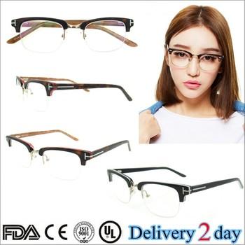 Best Selling Fashion Prescription Wooden Frame Optical Glasses Frame ...