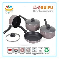 2015 New Aluminum Stone Cookware With Induction Bottom/living stone marble cookware set