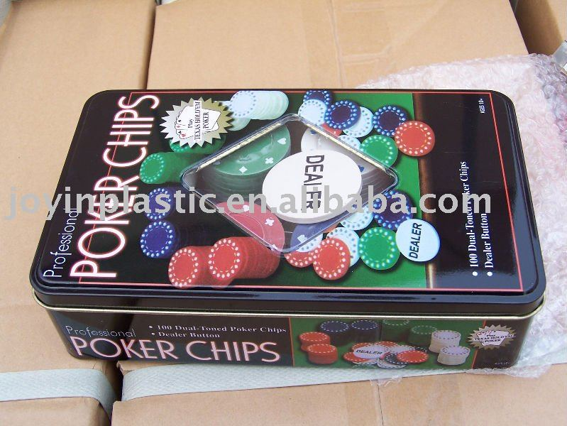 Poker chip set/texas hold em poker set