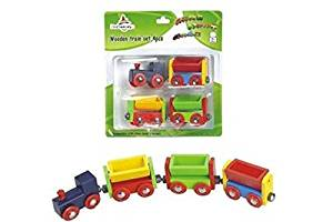 CHH Assorted Color Magnetic Freight Train Set in Blister Pack (4 Piece)