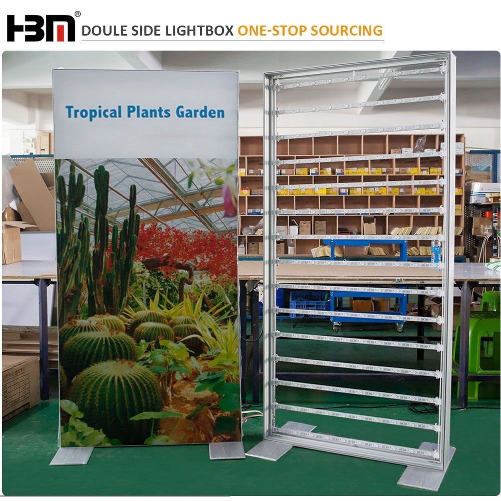 factory price high quality indoor outdoor waterproof frameless double sided textile led light box