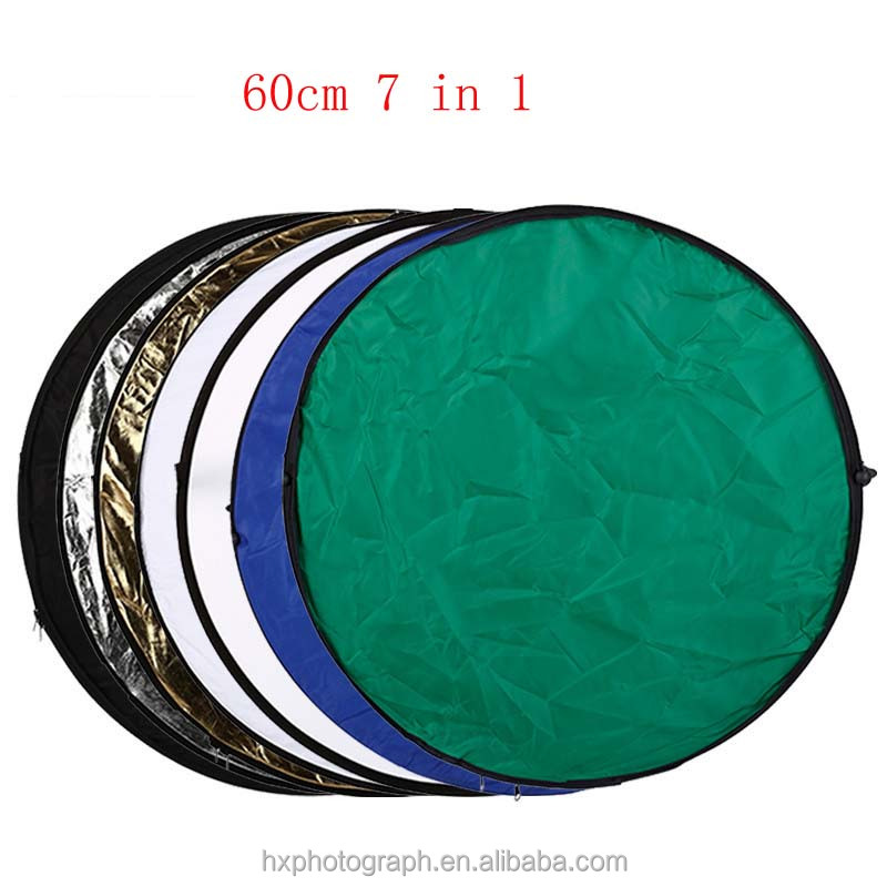 Camera Photography Studio Equipment Collapsible 7 in 1 Reflector Disc 60cm