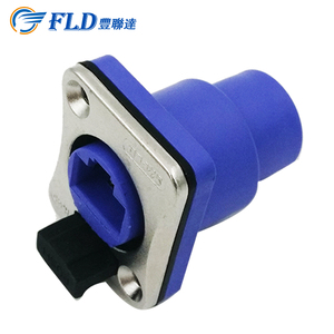 Electric male female ip65 push button switch socket waterproof connectors