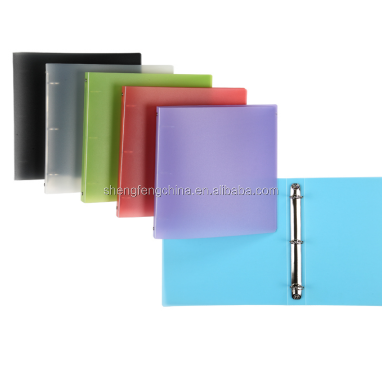 High quality Plastic Ring binders, 3 ring binder file for school and office stationery