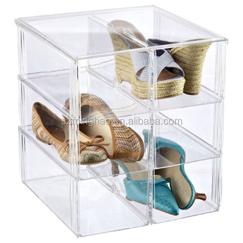 Modern Clear Acrylic Stackable Shoe Storage Box