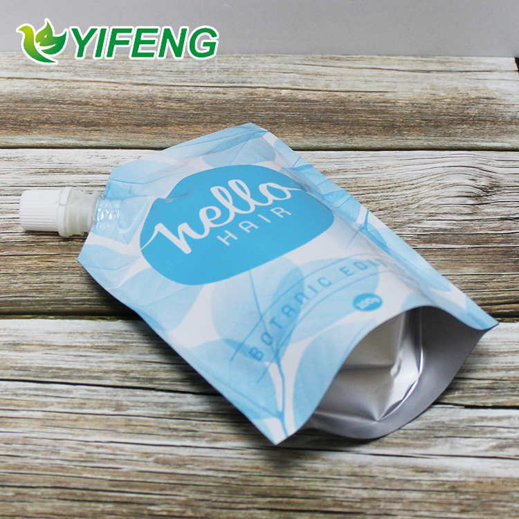 Aluminium For Juice /beverage Flexible Fluid Packaging Reusable Liquid Stand Up Ziplock Pouch With Spout