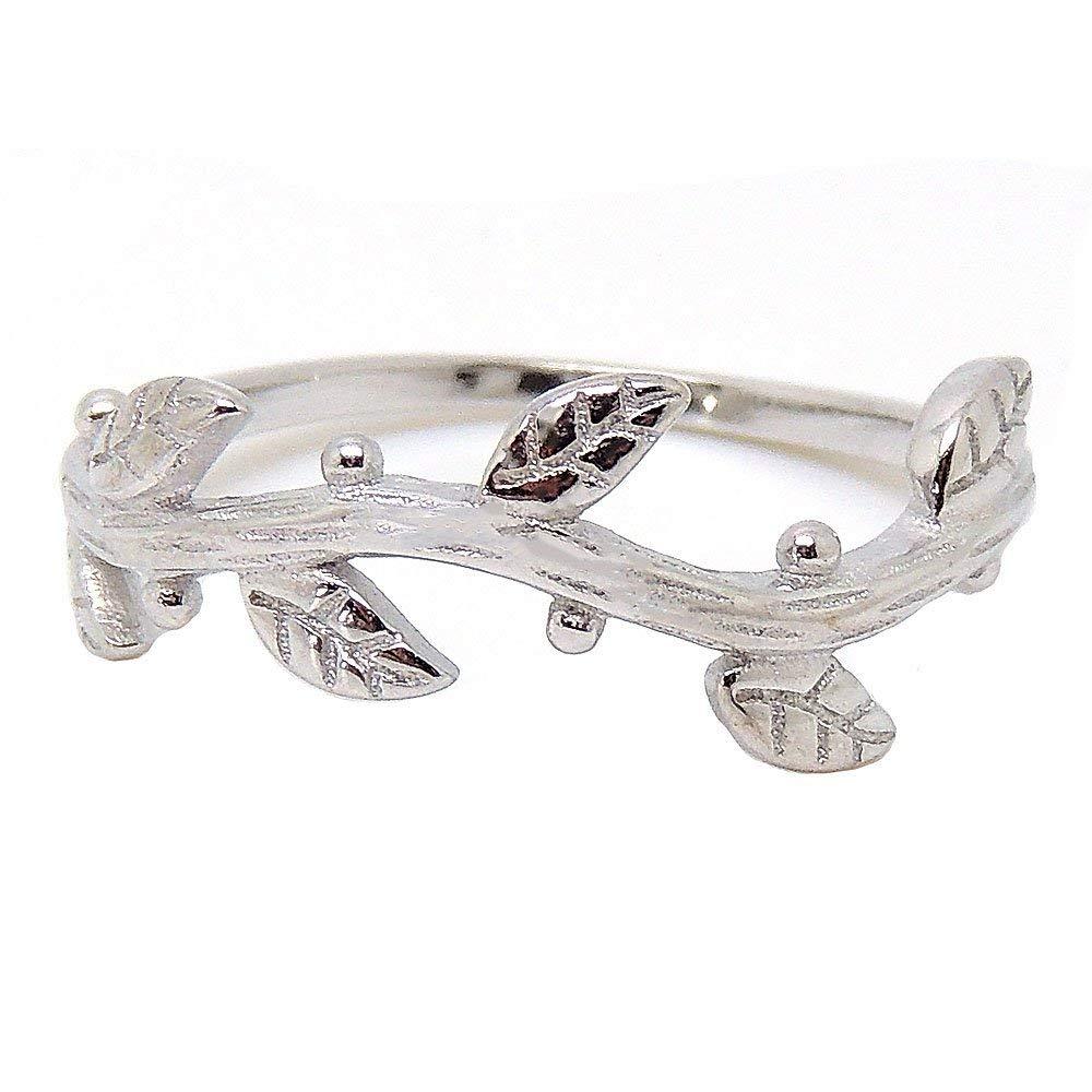 Ginger Lyne Collection Ivy Sterling Silver Vine Band Ring