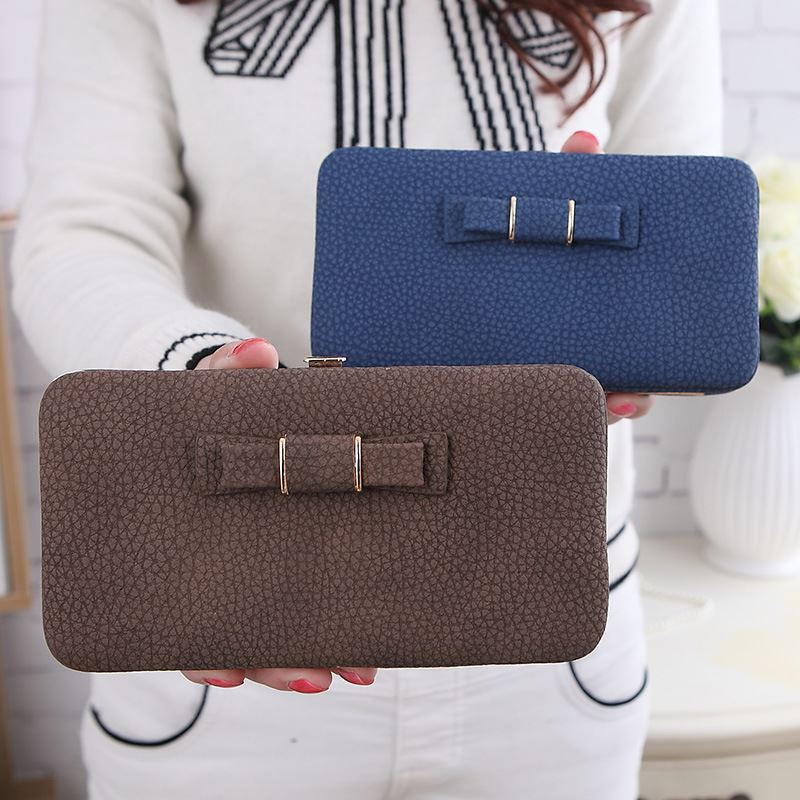 lady litchi stria bowknot <strong>wallet</strong>, fashion cell phone <strong>wallet</strong>