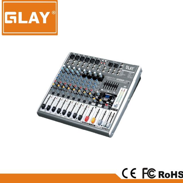 GLAY XENXY X1222USB 12 channel professional usb audio mixer recording mixing console small audio mixer
