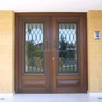 double door solid wood cheap exterior doors