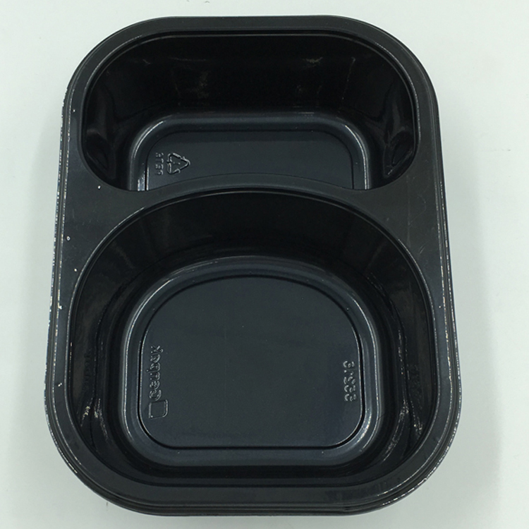 Black Microwave Safe One Time UsePlastic Disposable Food Packaging Container