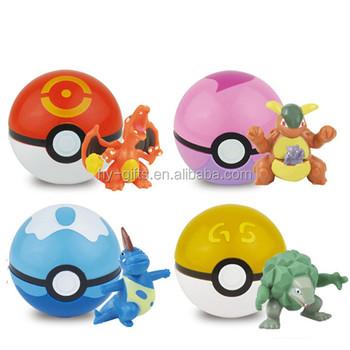 china manufacture pokemon ball figure toys for kids plastic pokeball