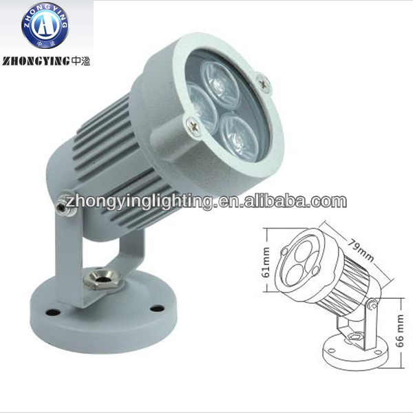 Die-cast aluminumn 3w led spotlight,outdoor led flood light