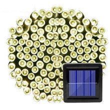 100 светодиодных солнечных струнных светильников наружный водонепроницаемый для украшения сада 3 режима Рождественская гирлянда на солнечн...(Китай)