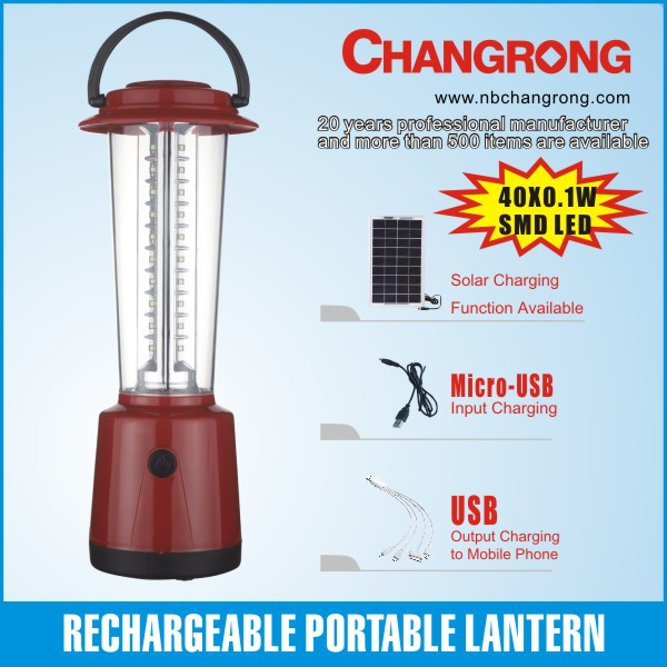 handheld led camping solar light for mobile charge