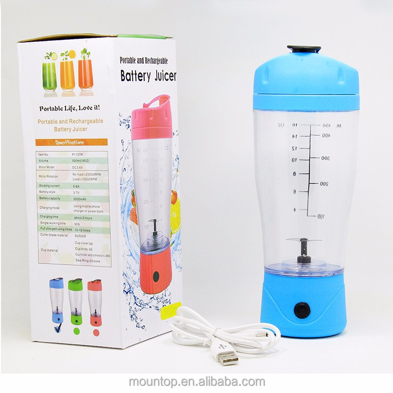 custom logo blender mixer cup eco friendly usb protein shaker
