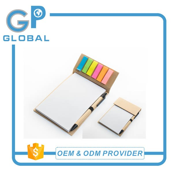 2017 promotional gifts magnetic memo pad with eco pen