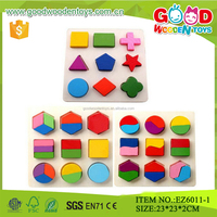 Wooden Geometric Puzzle Shape Sort Educational Toys Puzzle Colorful Bricks Wooden Building Blocks for Children Early Education